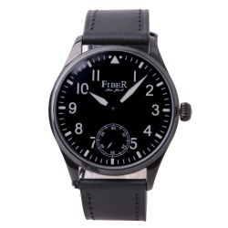 FIBER 法柏 領航者手上鍊機械腕錶-IP黑/42mm