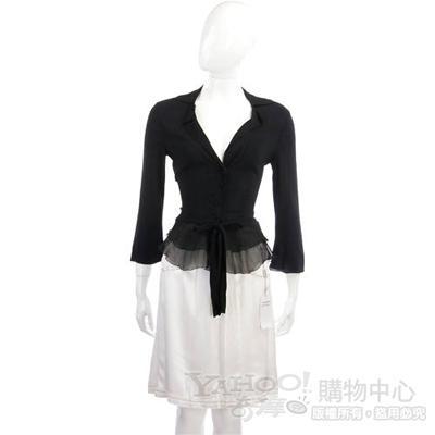 PHILOSOPHY-AF 白色車縫設計及膝裙