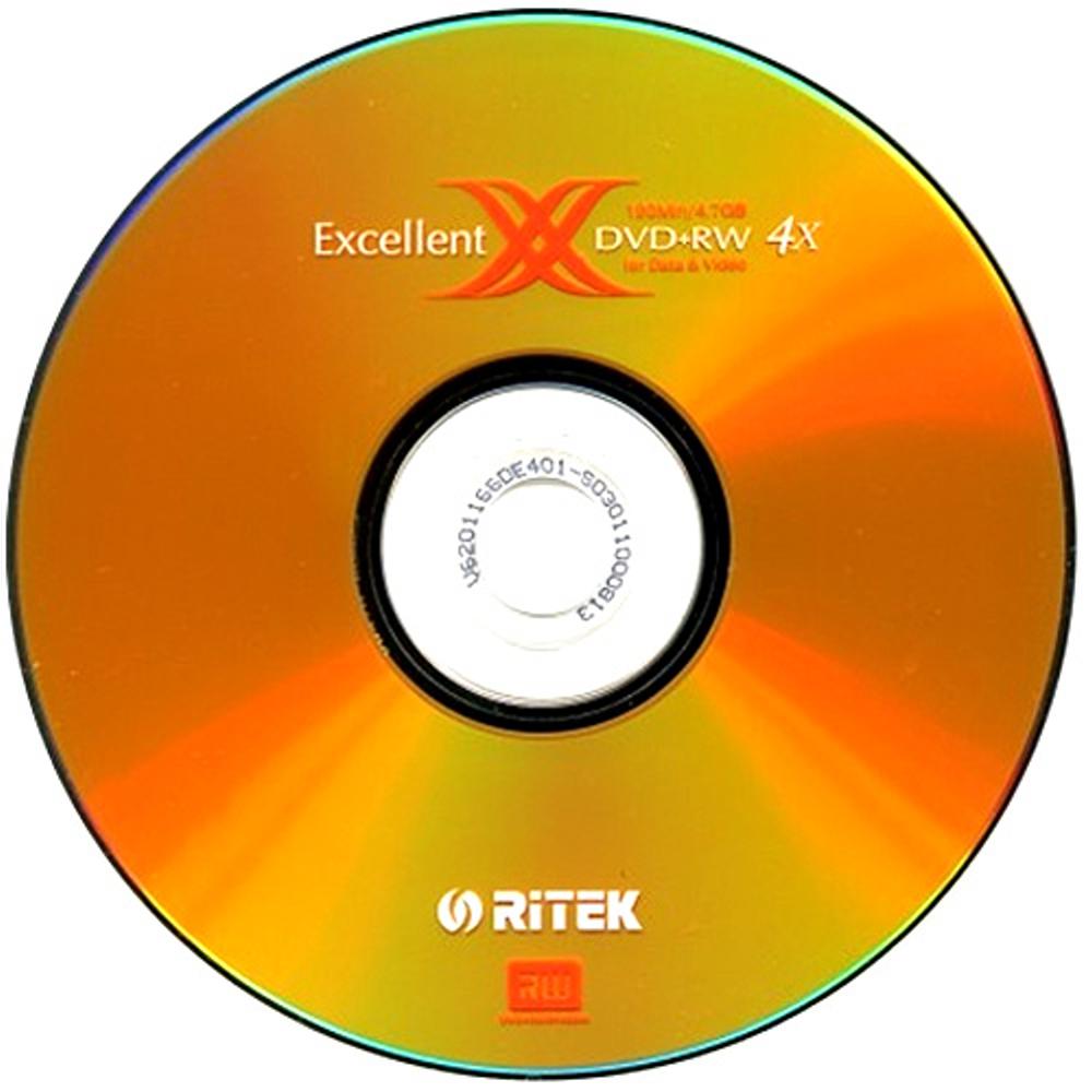 錸德 RiTEK X系列(二代)DVD+RW 4X燒錄片(10片)