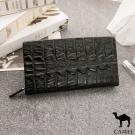 CAMEL - 奢華品味鱷魚紋雙層長夾