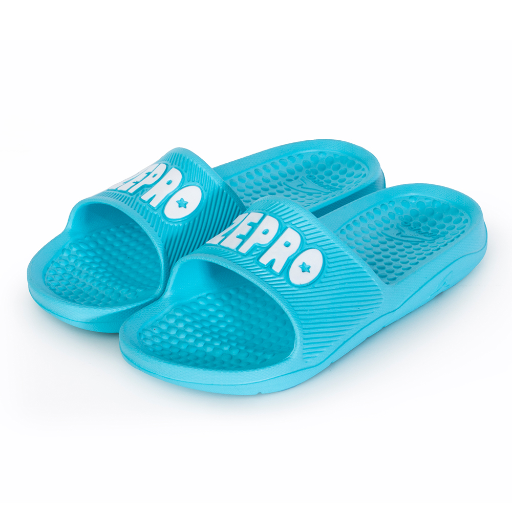 【ZEPRO】女款休閒拖鞋LIGHT系列-湖藍