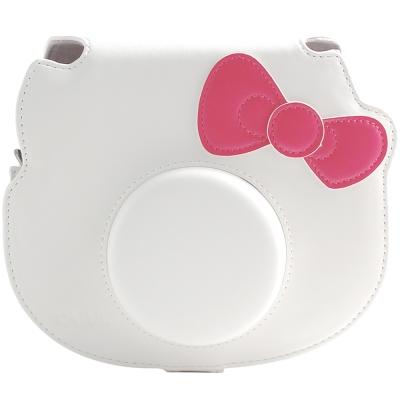 [快]For FUJIFILM mini Hello Kitty 拍立得專用皮質相機包-白