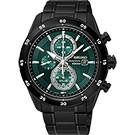 SEIKO精工 Criteria 零極限三眼計時腕錶(SSC547P1)-綠x黑/44mm