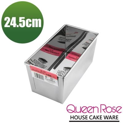 日本霜鳥QueenRose 24.5cm不袗長方型蛋糕模-(L)-日本製