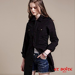 ETBOITE 箱子 BLUE WAY 率性長版襯衫式連身洋裝-2色