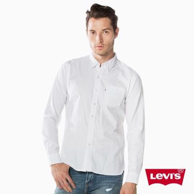 素面襯衫 男裝 單口袋 - Levis