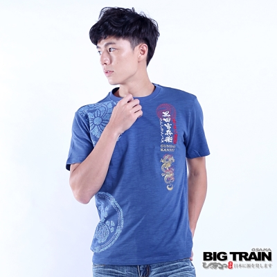 BIG TRAIN 黑田官兵衛短袖T-男-中藍