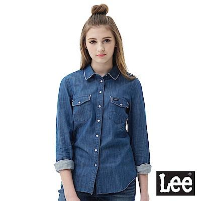 Lee 牛仔長袖襯衫-女款
