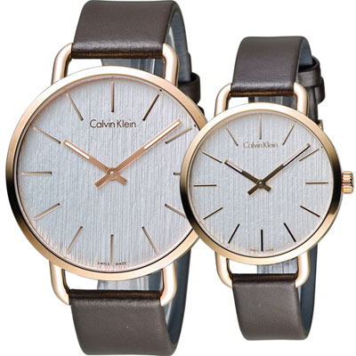 Calvin Klein even系列情繫永恆對錶(K7B216G6+K7B236G6)