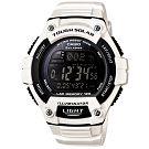 CASIO 陽光遊俠全方位電子運動錶(W-S220C-7B)-黑面/白色/49mm