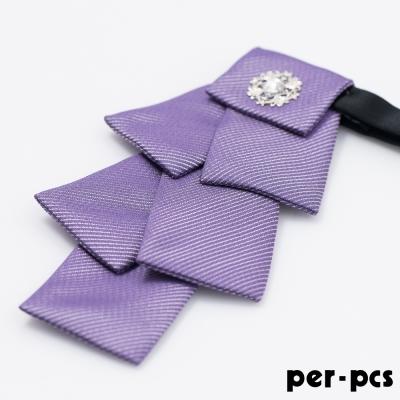 per-pcs 聖誕樹鑽可調脖圍領結_紫色(119-46)