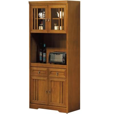 品家居楓之谷2.7尺實木餐櫃組合-81x42x189.6cm-免組