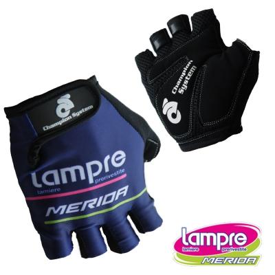 《LAMPRE-MERIDA》美利達藍波車隊版短指手套