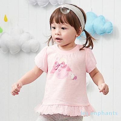 les enphants baby甜心泡泡荷葉上衣 (2色可選)