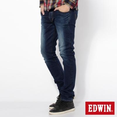 EDWIN 窄直筒 503NARROW牛仔褲-男-拔洗藍