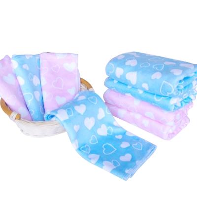 加厚超細超吸水棉柔印花小方巾4條+毛巾4條