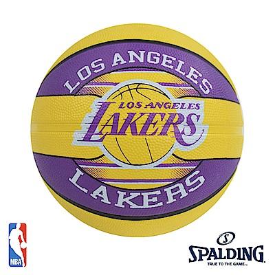 SPALDING 洛杉磯 湖人 Lakers #7 隊徽籃球 SPA83510