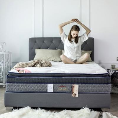 H&D 波斯系列-舒眠四線記憶恆溫獨立筒床墊-雙人加大6尺