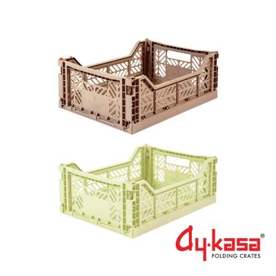 土耳其Ay-kasa M折疊收納箱2入組-青青草原