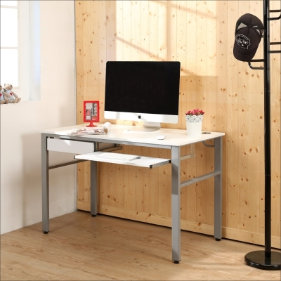 BuyJM 鏡面環保低甲醛120公分穩重型抽屜加鍵盤工作桌-DIY