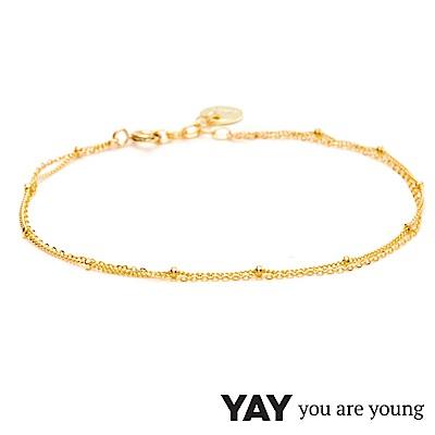 YAY You Are Young 法國品牌 Stella 簡約腳鍊 金色