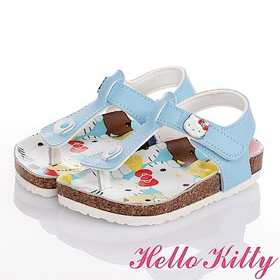 HelloKitty 好朋友系列 舒適輕量減壓吸震童涼鞋-水