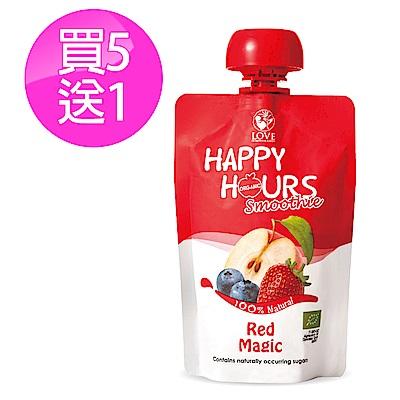 【Happy Hour】佑爾康金貝親有機纖果飲6包(蘋果/藍莓/草莓)
