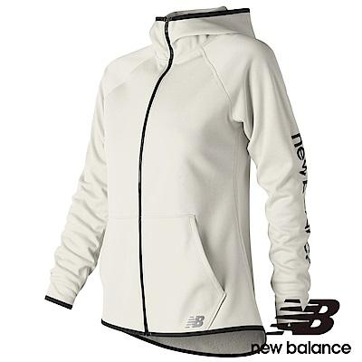 New Balance刷毛連帽外套AWJ73157SST女性米白