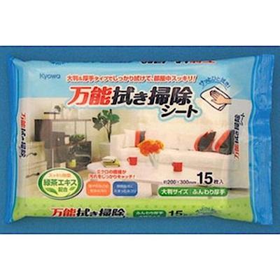 WAVA 日本KYOWA萬用清潔綠茶配方擦拭巾15入