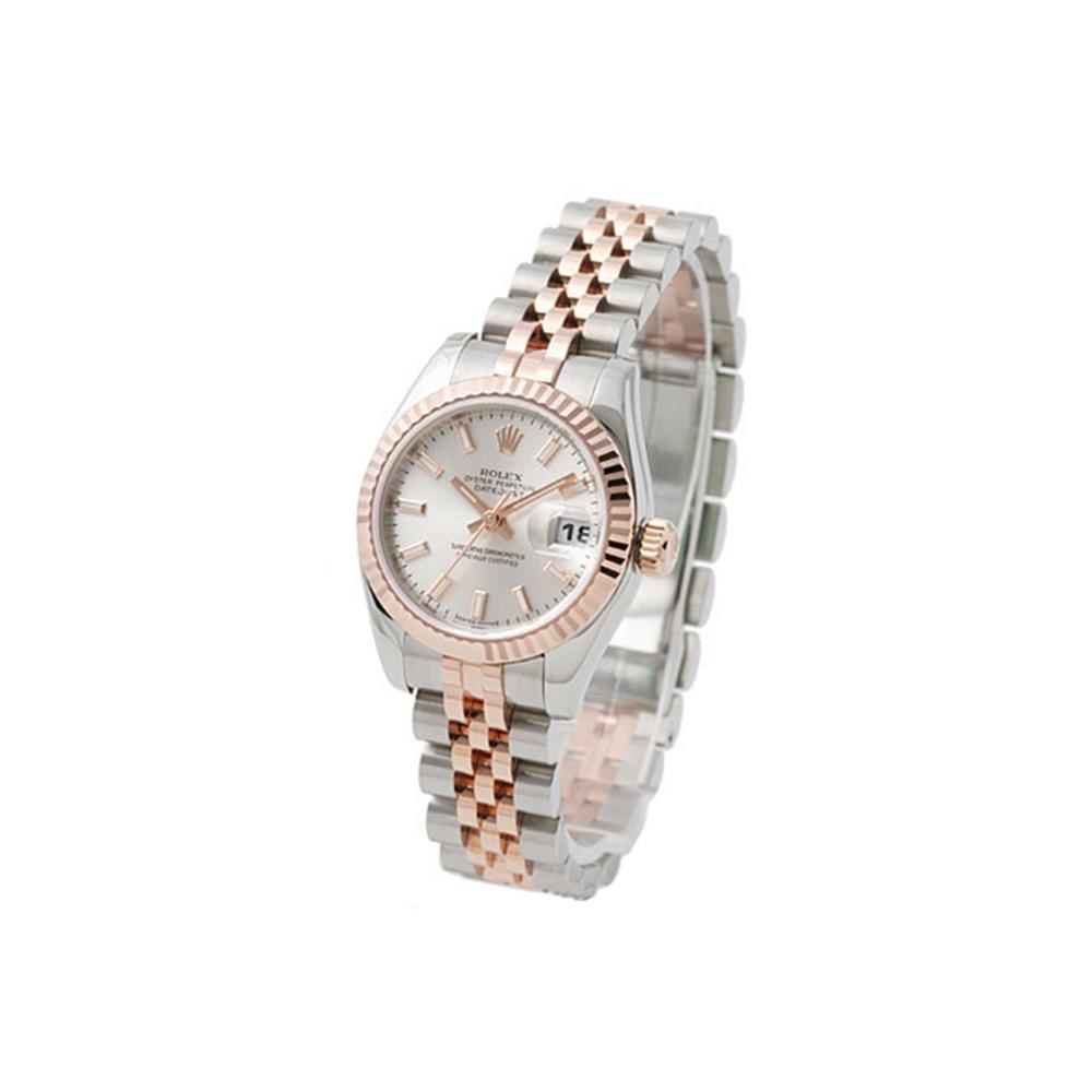 ROLEX 勞力士 Datejust 179171蠔式恆動日誌型腕錶-銀x玫瑰金框/26mm