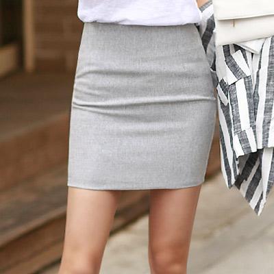 正韓 雪花混織感包臀薄款短窄裙 (共三色)-N.C21