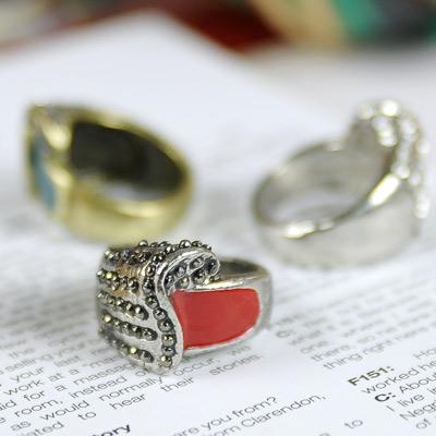 【Aimee Toff】韓式量感質晶美鑽戒指(3色)