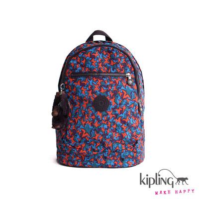 Kipling-後背包-繽紛星耀印花