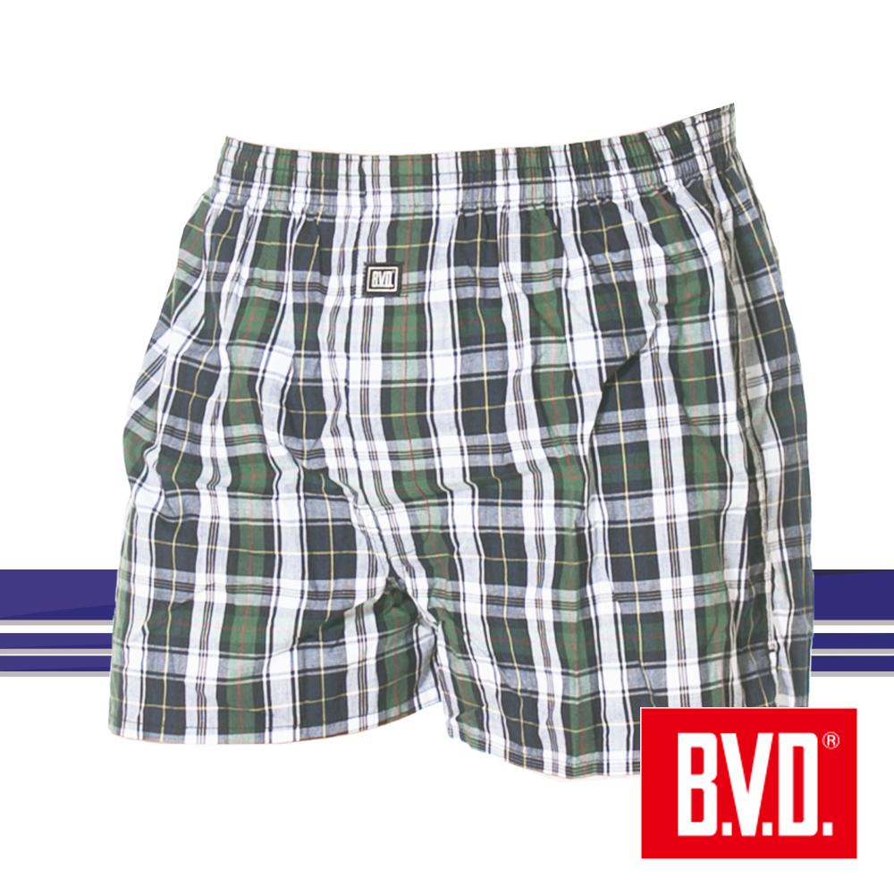 BVD 經典格紋平織四角褲-單件