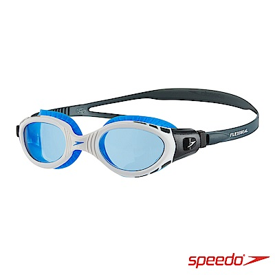 SPEEDO 成人運動泳鏡 Futura Biofuse 白藍