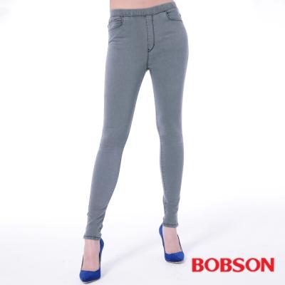 BOBSON 女款中腰強彈力鬆緊帶緊身褲