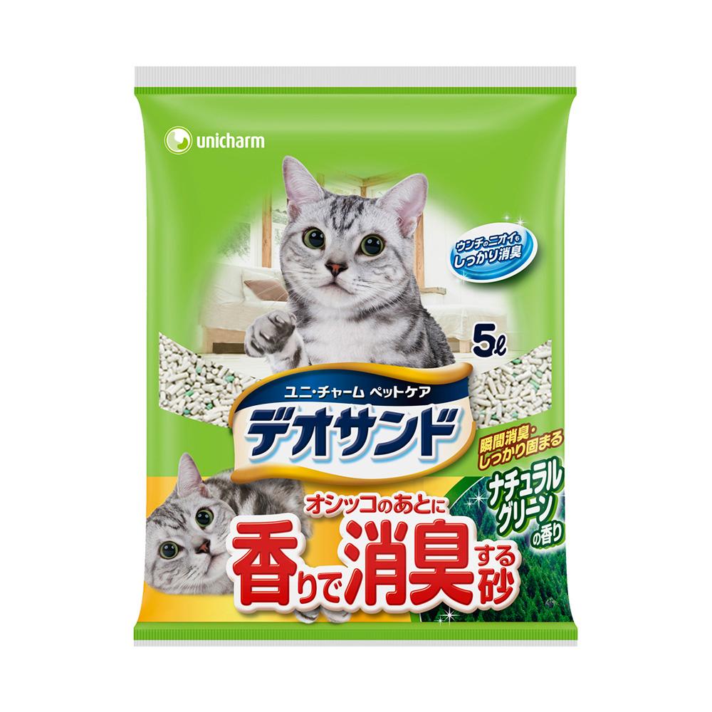 日本Unicharm消臭大師 尿尿後消臭貓砂-森林香5L