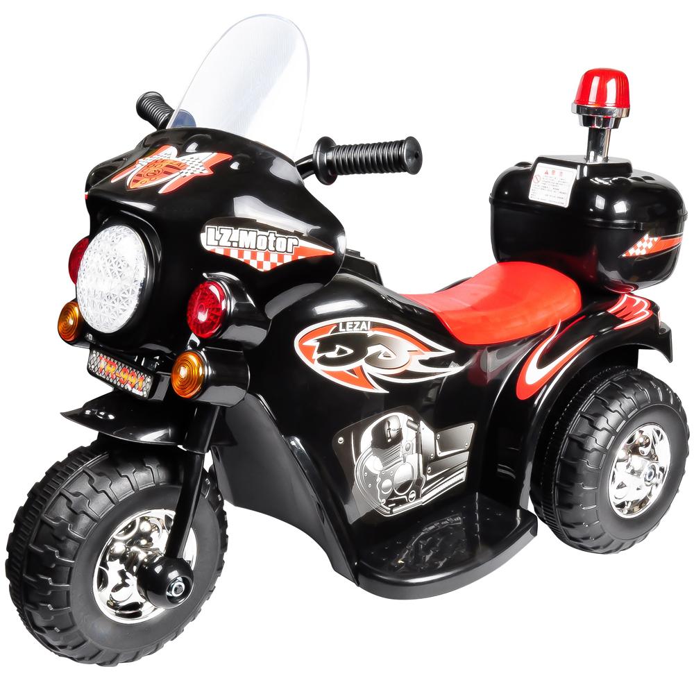 寶貝樂皇家警察兒童電動摩托車電動機車-黑色