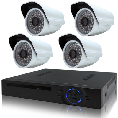 奇巧 8路4聲HD1080P數位高清監控組(含720P130萬畫素攝影機x4)