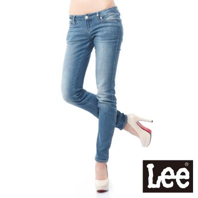 Lee 牛仔褲 403 超低腰合身窄管 -女款(淺漂藍)