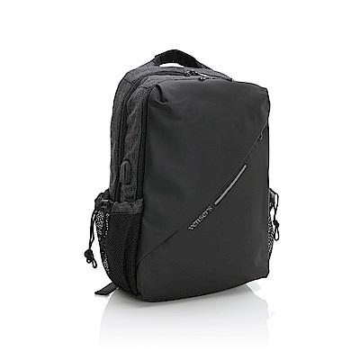 vensers 多功能時尚後背包(S700701黑色)