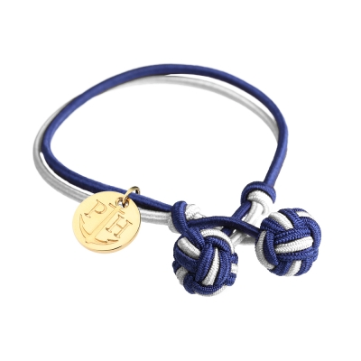 PAUL HEWITT 德國出品 Knot 藍白雙色繩結手環