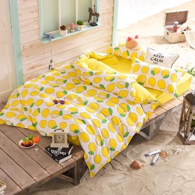 RODERLY 檸檬蘇打水 水果調酒 加大四件式被套床包組