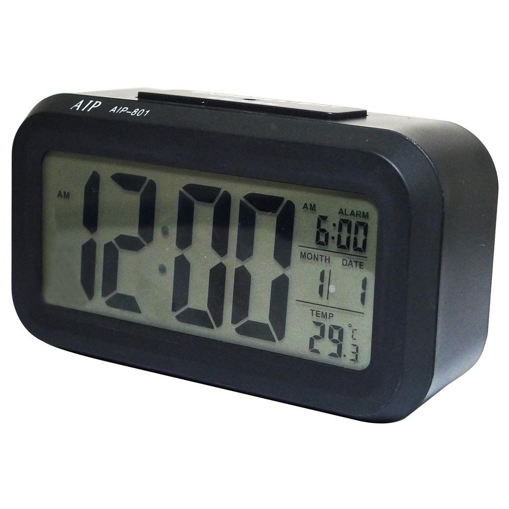 4.7吋超大螢幕智能萬年曆電子鐘 AIP-801 (黑色)