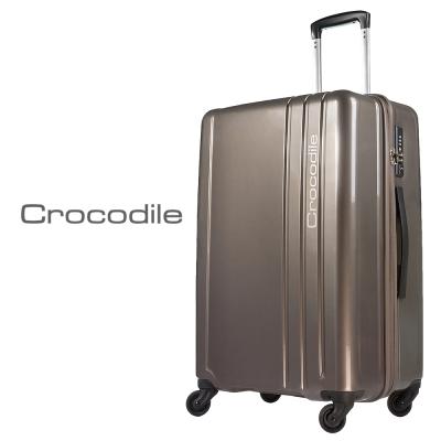 Crocodile 馬卡龍亮彩色系旅行箱-鐵灰24吋 0111-6024-03