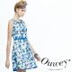 OUWEY歐薇-幾何塗鴉配色網眼背心洋裝