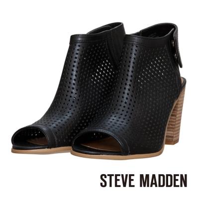 STEVE-MADDEN-街頭性格鏤空後帶式魚口鞋