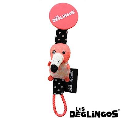 Les Deglingos 立體玩偶奶嘴夾-紅鶴 (FLAMINGOS)