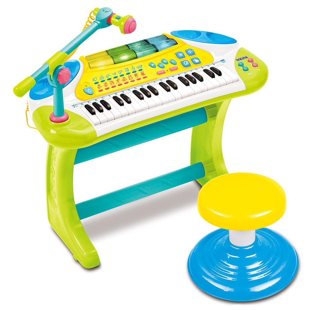 香港 WEINA  聲光魔法電子琴(綠+白)