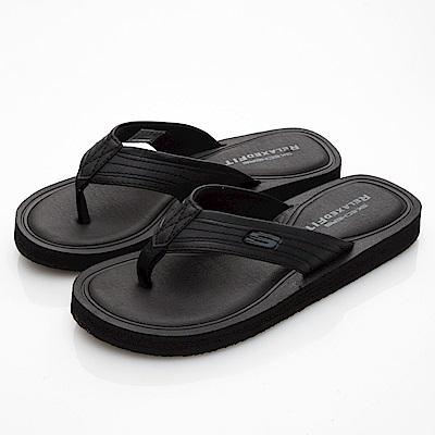 SKECHERS (男) 時尚休閒系列 TOCKER 拖鞋- 51825BBK